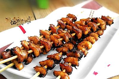 #粉粉套装试用#--烤螺肉串