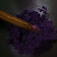 紫薯玫瑰花馒头的做法图解2
