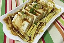 青爽小菜日式拌豆腐#丘比沙拉汁#的做法