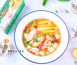 汁浓肉鲜低脂鱼片豆腐羹的做法