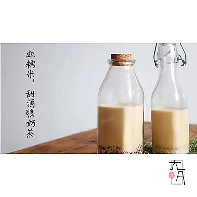 血糯米奶茶,甜酒酿奶茶,奶茶店爆款热卖奶茶