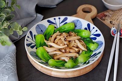 小油菜炒蟹味菇
