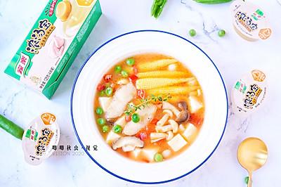 汁浓肉鲜低脂鱼片豆腐羹