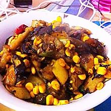 地三鲜——土豆,茄子,玉米