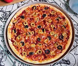 甜菜根橄榄披萨#我的烘焙不将就#的做法
