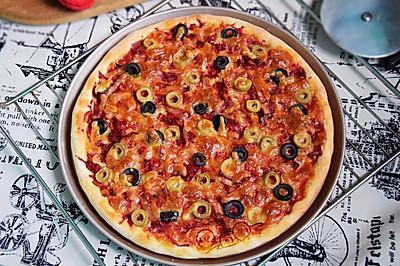 甜菜根橄榄披萨#我的烘焙不将就#