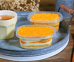 咸蛋黄麻薯盒子蛋糕的做法