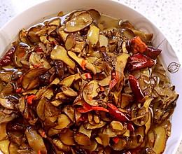 干椒炒野生菌的做法