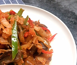 韩式辣泡菜爆炒鸭胗 | 三分钟就能做好的快手下饭菜的做法