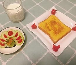 浸满鸡蛋液的面包片(面包片N吃法1)的做法