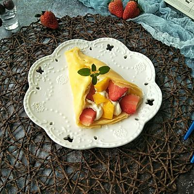奶油水果卷