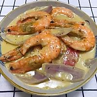 #一道菜表白豆果美食#芝士大虾的做法图解8
