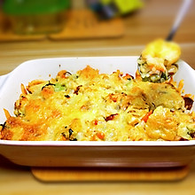 培根焗饭(虾仁龙利鱼鸡腿)