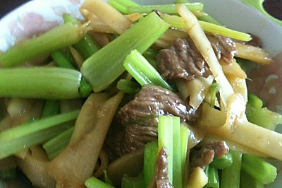 子姜香芹滑牛肉