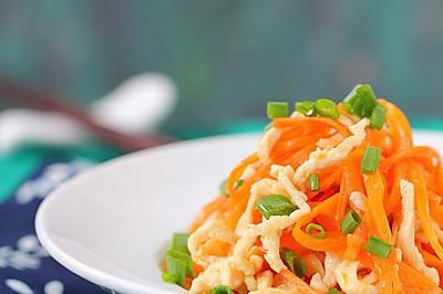 胡萝卜炒鸡丝