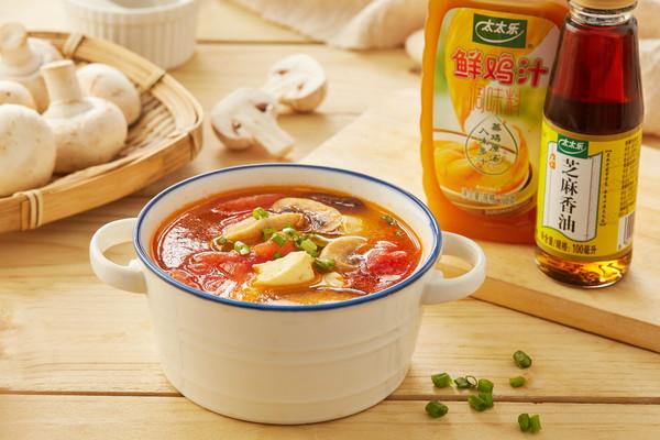 开胃下饭好食光 | 番茄双菇鸡汁汤的做法