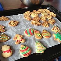 无黄油健康早餐饼干 圣诞糖霜饼干的做法图解4