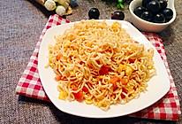 番茄鸡蛋炒面的做法