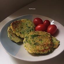 #换着花样吃早餐#超简单的豆渣蔬菜煎饼