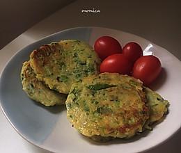 #换着花样吃早餐#超简单的豆渣蔬菜煎饼的做法