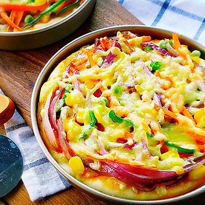 韩式香辣鱿鱼比萨