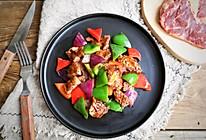 彩椒牛肉粒的做法