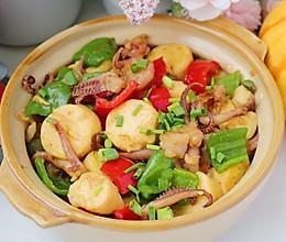 铁板海鲜日式豆腐的做法