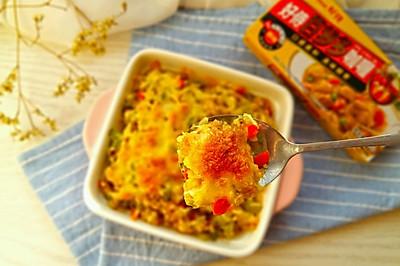 芝士焗咖喱牛肉炒饭