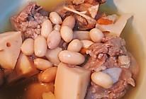 莲藕花生筒骨汤的做法