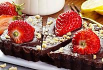 免烤草莓巧克力塔的做法