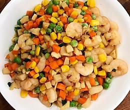 玉米青豆炒虾仁的做法