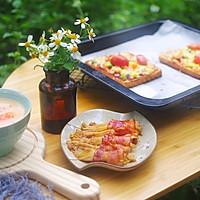 鲜虾培根吐司披萨的做法图解5