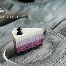 颜值爆增:蓝莓渐变芝士蛋糕