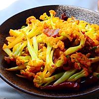 五花肉干煸有机花菜-在家做出饭店的味道#一机多能 一席饪选#的做法图解24