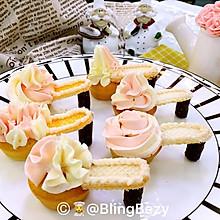 【美食魔法】裱花杯子蛋糕高跟鞋
