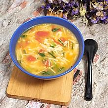 #一人一道拿手菜#金针菇疙瘩汤