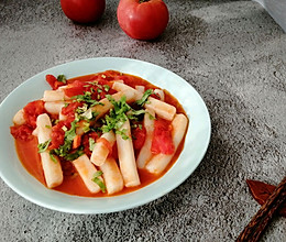 #一周减脂不重样#西红柿炒年糕的做法