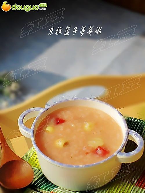 京糕莲子荸荠粥的做法