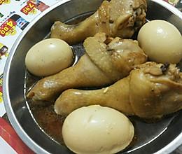 卤鸡腿及鸡蛋的做法