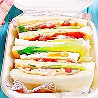 #一人一道拿手菜# 培根三明治的做法图解11