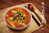 韩式泡菜汤年糕的做法