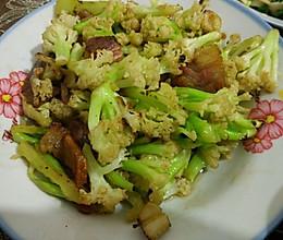 (干锅)老花菜炒腊肉的做法