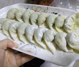 圆白菜香菇素饺子,减肥,健身者的美食的做法