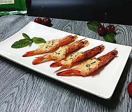 芝士香草焗对虾#百吉福芝士力量#的做法