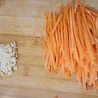 胡萝卜拌金针菇的做法图解2