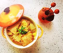 煎豆腐炖白菜的做法