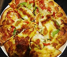 彩椒培根披萨6寸的做法