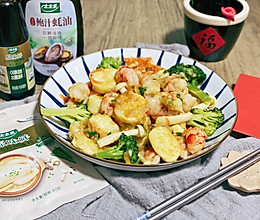 #百变鲜锋料理# 三鲜日本豆腐炒虾仁的做法