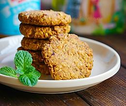 #轻轻蓝小罐#花生酱燕麦饼干的做法