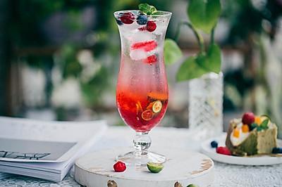 蔓越莓果小青柠夏日神仙水(气泡水也可以自己做了)